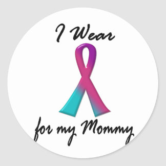 Thyroid Cancer I WEAR THYROID RIBBON 1 Mommy Classic Round Sticker