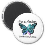 Thyroid Cancer I'm a Survivor 2 Inch Round Magnet