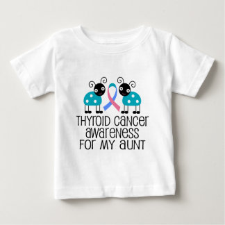 Thyroid Cancer Ribbon For My Aunt Baby T-Shirt