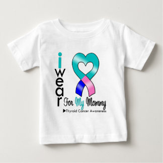 Thyroid Cancer Ribbon For My Mommy Baby T-Shirt