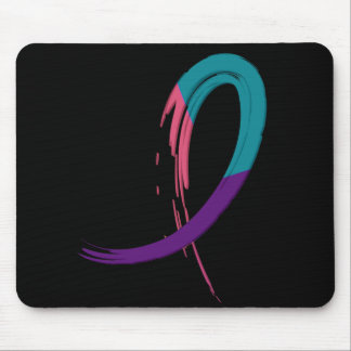 Thyroid Cancer Ribbon Mouse Pads, Thyroid Cancer Ribbon ...