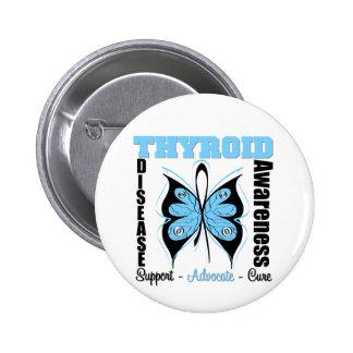 Thyroid Disease Awareness Butterfly Button