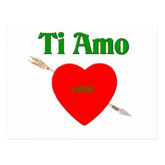 Ti Amo (I Love You) Postcard
