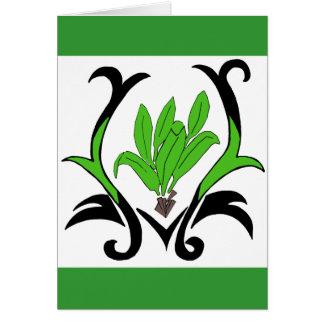 Ti leaf plant card