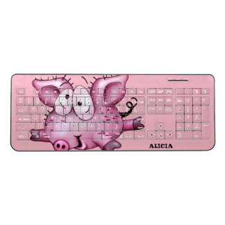 Ti-PIG CARTOON  Custom Wireless Keyboard 2