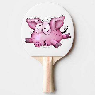 Ti-PIG Cartoon Ping Pong Paddle,  black Rubber 2 Ping Pong Paddle