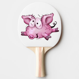 Ti-PIG Cartoon Ping Pong Paddle,  Red Rubber 2 Ping Pong Paddle