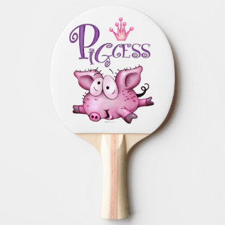 Ti-PIG Cartoon Ping Pong Paddle,  Red Rubber Ping Pong Paddle