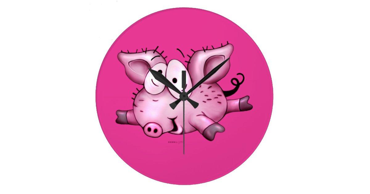 TI PIG CLOCK horloge   Zazzle.ca