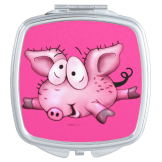 Ti-PIG CUTE CARTOON compact mirror SQUARE