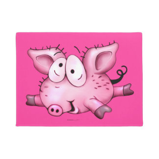 "Ti-Pig CUTE CARTOON DOOR MAT 18"" x 24"" Door Mat"