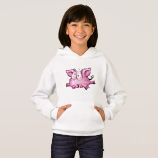 Ti-PIG CUTE CARTOON Hoodie Girl WHITE