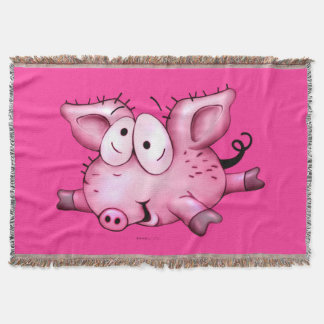 Ti-PIG CUTE CARTOON Throw Blanket