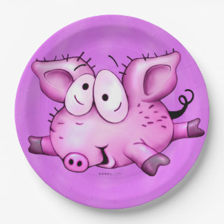 Ti Pig PLATE 9 INCHES MAUVE PURPLE 9 Inch Paper Plate
