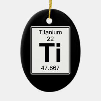 Ti - Titanium Ceramic Ornament