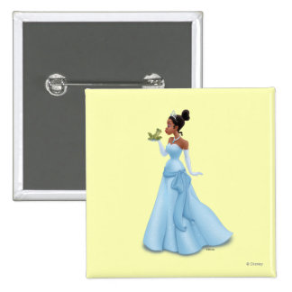 Tiana and Frog 2 Inch Square Button