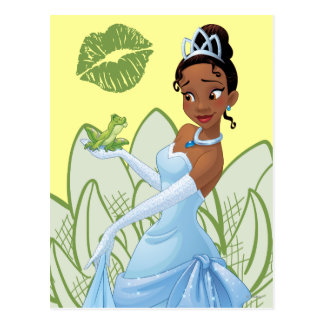 Tiana and the Frog Prince Postcard