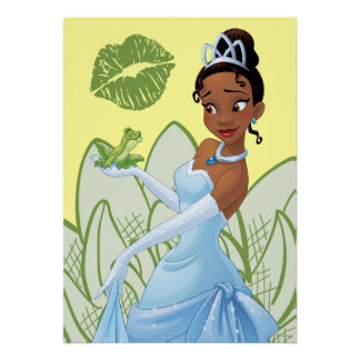 Tiana and the Frog Prince Poster