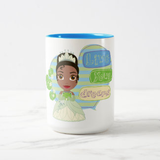 Tiana | Live Your Dreams Two-Tone Coffee Mug