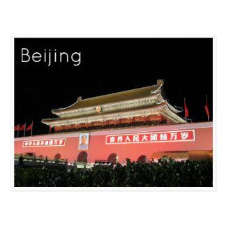 tiananmen square beijing postcard
