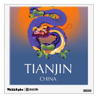 Tianjin China Dragon travel poster Wall Decal