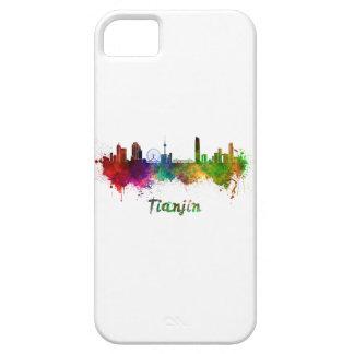 Tianjin skyline in watercolor iPhone 5 case