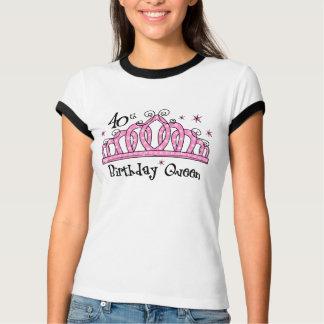 Tiara 40th Birthday Queen LT T-shirt