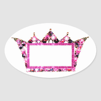 Tiara Labels Oval Sticker