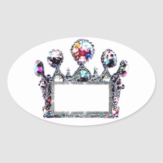 Tiara Labels to Personalize! Oval Sticker