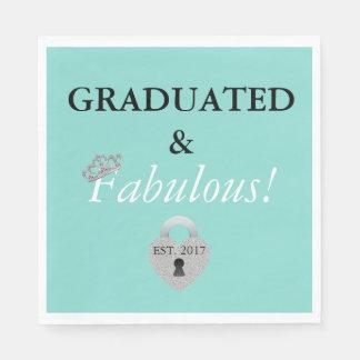 Tiara Party Graduation Celebration Paper Napkins