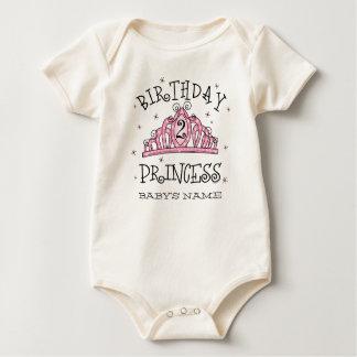 Tiara Princess 2nd Birthday Custom Baby Bodysuit