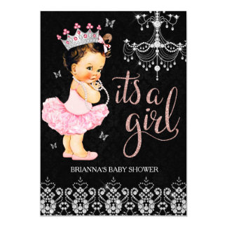 Tiara Princess It's a Girl Baby Shower Invitation