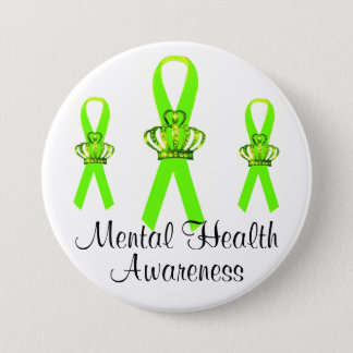 Tiara Ribbon Mental Health Awareness Buttons