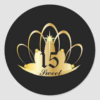 TIARA, Sweet, 15 Sticker-Customize Classic Round Sticker