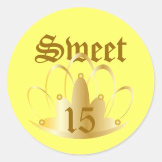 TIARA, Sweet, 16 Sticker-Customize Round Sticker