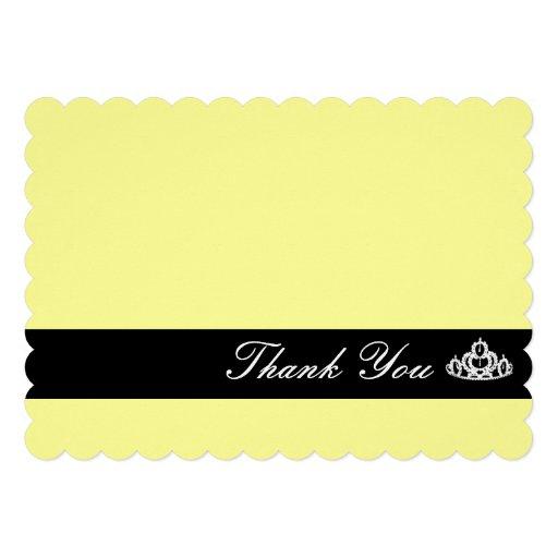 Tiara Thank You Note Card