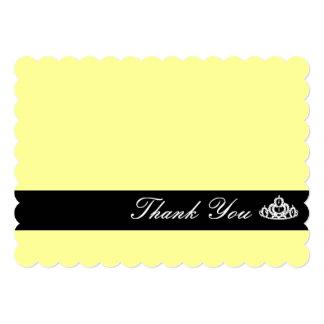 Tiara Thank You Note Card Custom Invitation