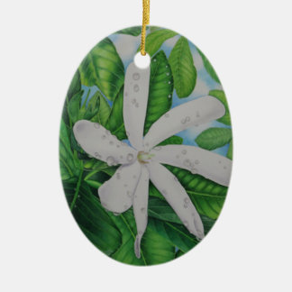 Tiare Tahiti Ceramic Ornament