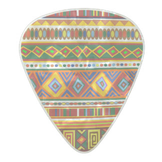 Tibal abstract pattern pearl celluloid guitar pick