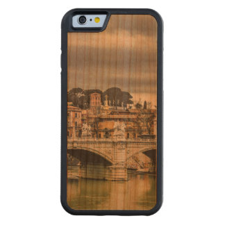 Tiber River Rome Cityscape Carved Cherry iPhone 6 Bumper Case