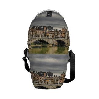 Tiber River Rome Cityscape Commuter Bag