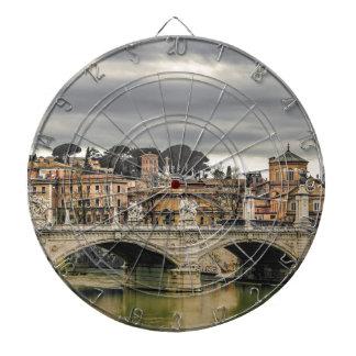 Tiber River Rome Cityscape Dartboard
