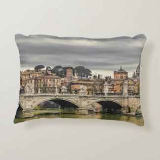 Tiber River Rome Cityscape Decorative Pillow