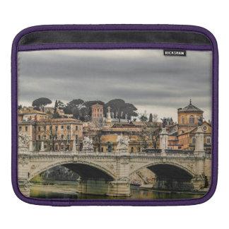 Tiber River Rome Cityscape iPad Sleeve