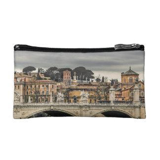 Tiber River Rome Cityscape Makeup Bag