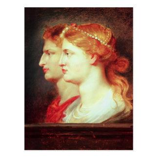 Tiberius  and Agrippina, c.1614 Postcard