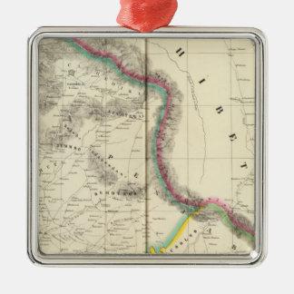 Tibet, Asia 68 Silver-Colored Square Ornament
