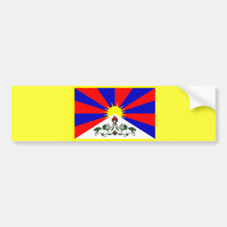 Tibet Flag Bumpersticker Bumper Sticker