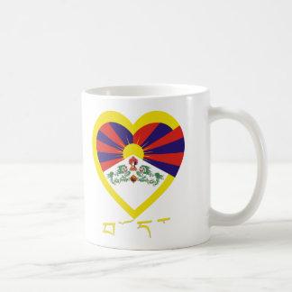 Tibet Flag Heart Coffee Mug