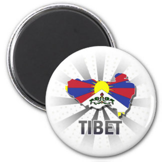 Tibet Flag Map 2.0 Magnet